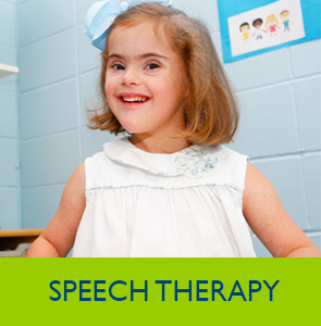 This is a photo of a young girl at Speech Therapy.